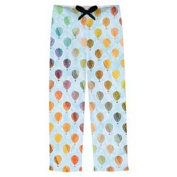 Watercolor Hot Air Balloons Mens Pajama Pants (Personalized)