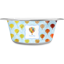 Watercolor Hot Air Balloons Stainless Steel Pet Bowl (Personalized)