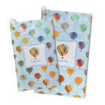 Watercolor Hot Air Balloons Microfiber Golf Towel (Personalized)