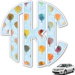 Watercolor Hot Air Balloons Monogram Car Decal (Personalized)