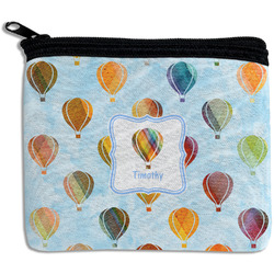 Watercolor Hot Air Balloons Rectangular Coin Purse (Personalized)