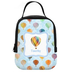 Watercolor Hot Air Balloons Neoprene Lunch Tote (Personalized)