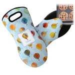Watercolor Hot Air Balloons Neoprene Oven Mitt (Personalized)