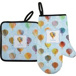 Watercolor Hot Air Balloons Oven Mitt & Pot Holder (Personalized)