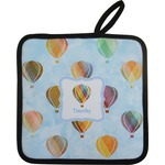 Watercolor Hot Air Balloons Pot Holder w/ Name or Text