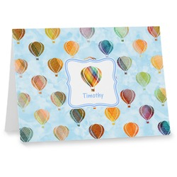 Watercolor Hot Air Balloons Note cards (Personalized)