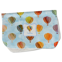 Watercolor Hot Air Balloons Burp Cloth - Fleece w/ Name or Text
