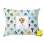 Watercolor Hot Air Balloons Outdoor Throw Pillow (Rectangular) (Personalized)