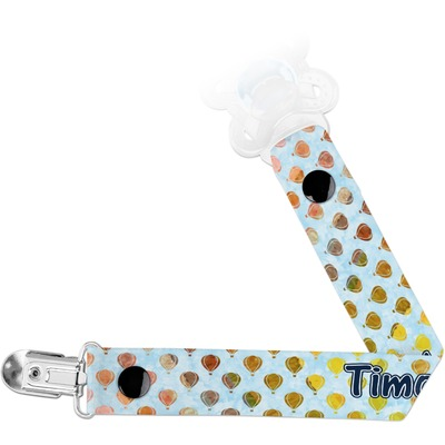 Watercolor Hot Air Balloons Pacifier Clips (Personalized)