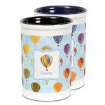 Watercolor Hot Air Balloons Ceramic Pencil Holder - Large