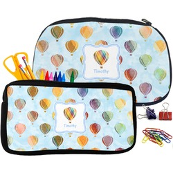 Watercolor Hot Air Balloons Pencil / School Supplies Bag (Personalized)