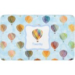 Watercolor Hot Air Balloons Bath Mat (Personalized)