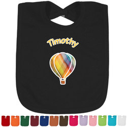 Watercolor Hot Air Balloons Baby Bib - 14 Bib Colors (Personalized)
