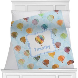 Watercolor Hot Air Balloons Blanket (Personalized)