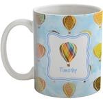 Watercolor Hot Air Balloons Coffee Mug (Personalized)