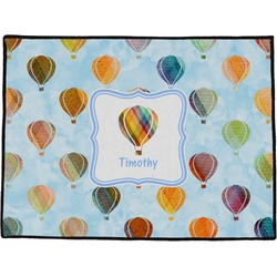 Watercolor Hot Air Balloons Door Mat (Personalized)