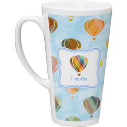 Watercolor Hot Air Balloons Latte Mug (Personalized)