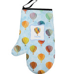 Watercolor Hot Air Balloons Left Oven Mitt (Personalized)