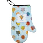 Watercolor Hot Air Balloons Right Oven Mitt (Personalized)