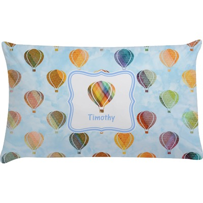 Watercolor Hot Air Balloons Pillow Case (Personalized)