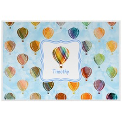Watercolor Hot Air Balloons Laminated Placemat w/ Name or Text