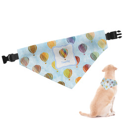 Watercolor Hot Air Balloons Dog Bandana - Large (Personalized)