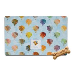 Watercolor Hot Air Balloons Pet Bowl Mat (Personalized)