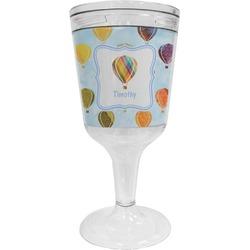 Watercolor Hot Air Balloons Wine Tumbler - 11 oz Plastic (Personalized)