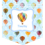 Watercolor Hot Air Balloons Iron On Faux Pocket (Personalized)