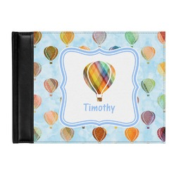 Watercolor Hot Air Balloons Genuine Leather Guest Book (Personalized)
