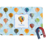 Watercolor Hot Air Balloons Rectangular Fridge Magnet (Personalized)