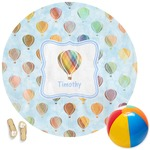 Watercolor Hot Air Balloons Round Beach Towel (Personalized)