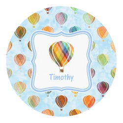 Watercolor Hot Air Balloons Round Decal - Custom Size (Personalized)