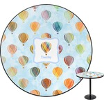Watercolor Hot Air Balloons Round Table (Personalized)
