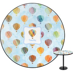 """Watercolor Hot Air Balloons Round Table - 30"""" (Personalized)"""