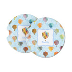 Watercolor Hot Air Balloons Sandstone Car Coasters (Personalized)