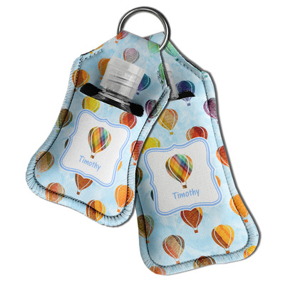 Watercolor Hot Air Balloons Hand Sanitizer & Keychain Holder (Personalized)