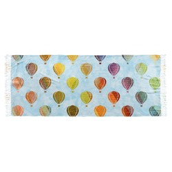 Watercolor Hot Air Balloons Faux Pashmina Scarf (Personalized)