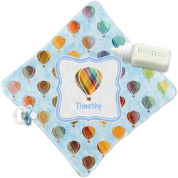 Watercolor Hot Air Balloons Security Blanket (Personalized)