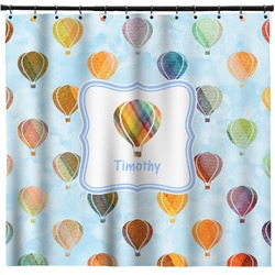Watercolor Hot Air Balloons Shower Curtain (Personalized)