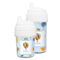 Watercolor Hot Air Balloons Sippy Cup (Personalized)