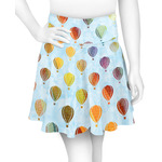 Watercolor Hot Air Balloons Skater Skirt (Personalized)