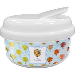 Watercolor Hot Air Balloons Snack Container (Personalized)