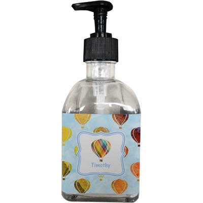 Watercolor Hot Air Balloons Soap/Lotion Dispenser (Glass) (Personalized)