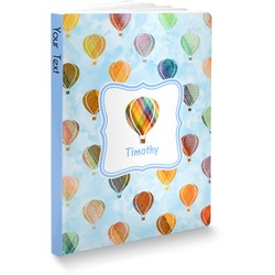 Watercolor Hot Air Balloons Softbound Notebook (Personalized)