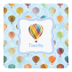 Watercolor Hot Air Balloons Square Decal (Personalized)