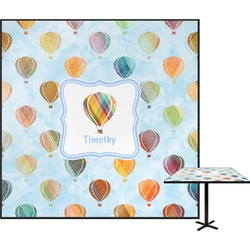 Watercolor Hot Air Balloons Square Table Top (Personalized)