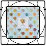 Watercolor Hot Air Balloons Square Trivet (Personalized)
