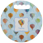 Watercolor Hot Air Balloons Stadium Cushion (Round) (Personalized)