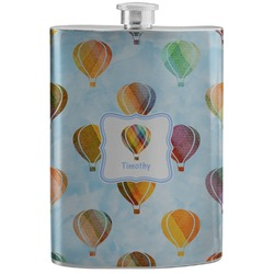 Watercolor Hot Air Balloons Stainless Steel Flask (Personalized)